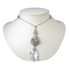 Load image into Gallery viewer, Navette Drop Filigree Necklace