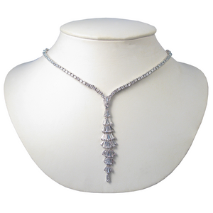 Margaret Rowe Baguette  Waterfall Diamontage™ 12.68 Carat Necklace