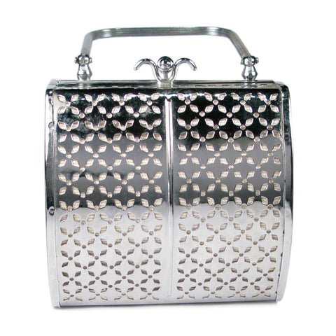 One-Of-A-Kind Vintage Petite Stainless Steel Clutch