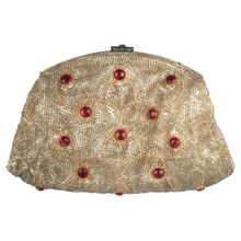 Load image into Gallery viewer, Original Vintage 1930's Beaded Ruby Pearl Dream Clutch