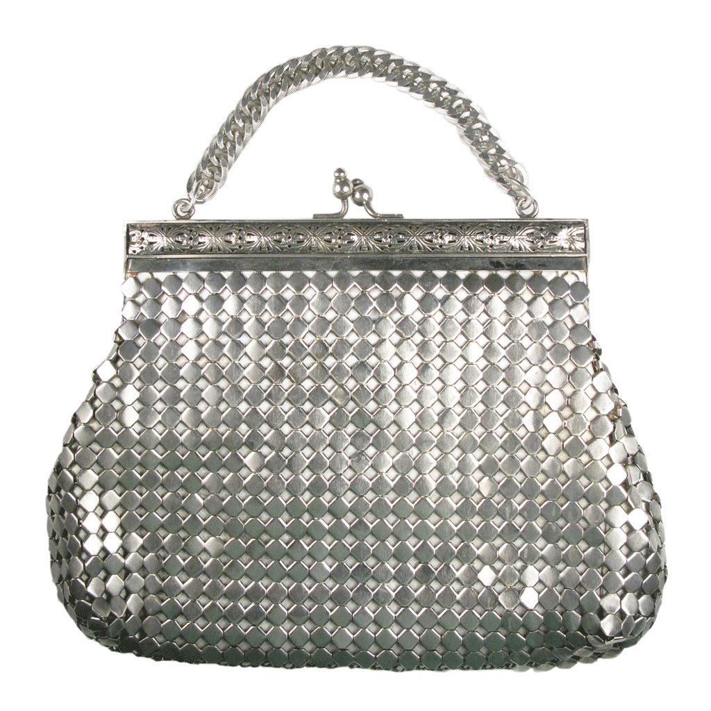 Original Vintage 1920's Silver Chain Mail Clutch