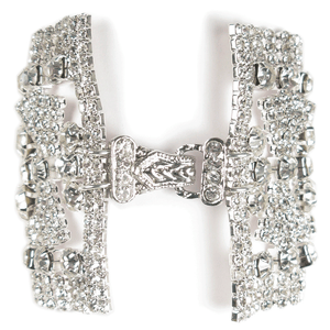 Encrusted Bow Tie Celebration Cuff Bracelet