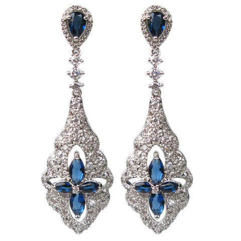 Blue Regal Romance Pendulum Diamontage™ 3.13 Carat Earrings