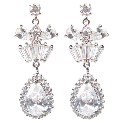 Baguette Coronation Drop Diamontage™ 10.72 Carat Earrings