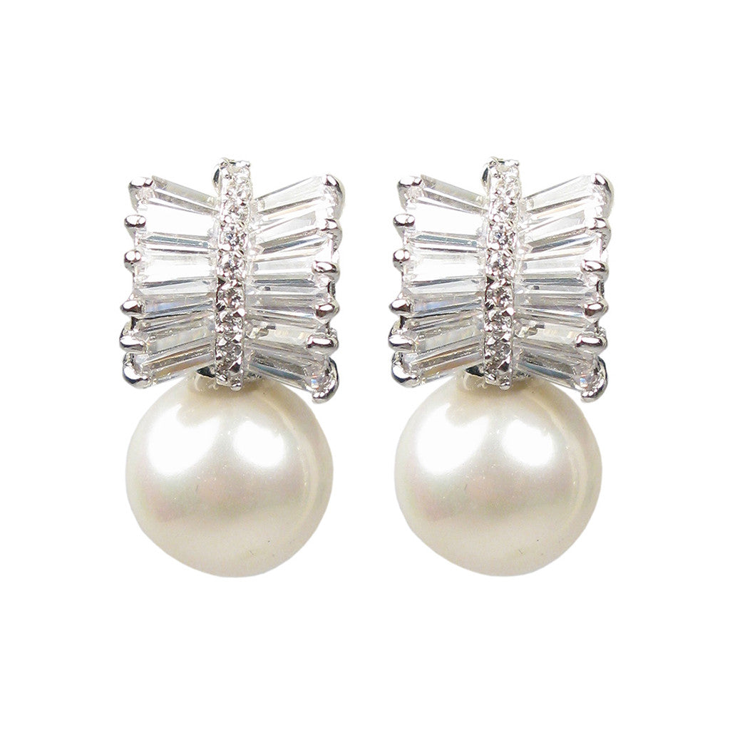 Deco Penn Pearl Diamontage ™ 3.36 Carats Earrings