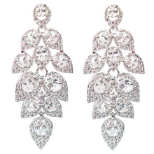Load image into Gallery viewer, Cascading Pavé Leaf Diamontage™ 4.9 Carat Earrings