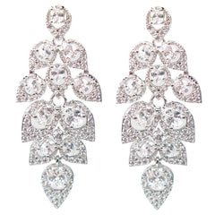 Cascading Pavé Leaf Diamontage™ 4.9 Carat Earrings