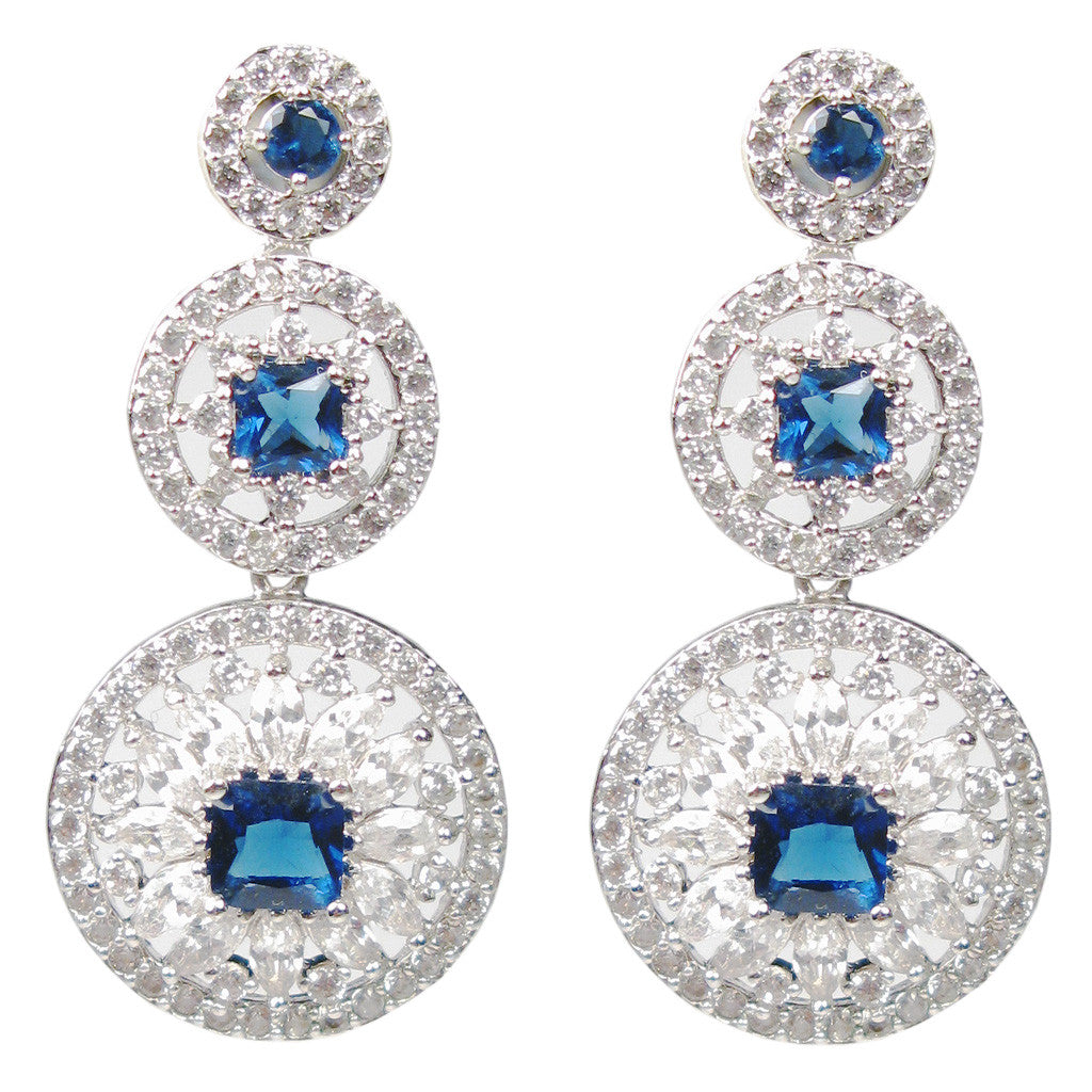 Blue Deco Carousel Marquise Diamontage™ 3.26 Carat Earrings