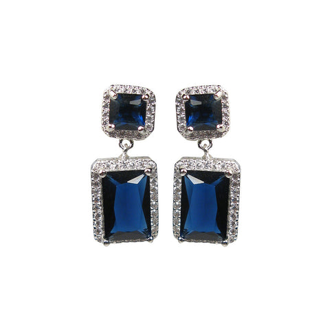 Blue Deco Elegance Diamontage™ 13.58 Carat Earrings