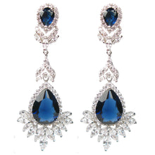 Load image into Gallery viewer, Faceted Blue Celebration Drop Diamontage™ 27.25 Carat Earrings