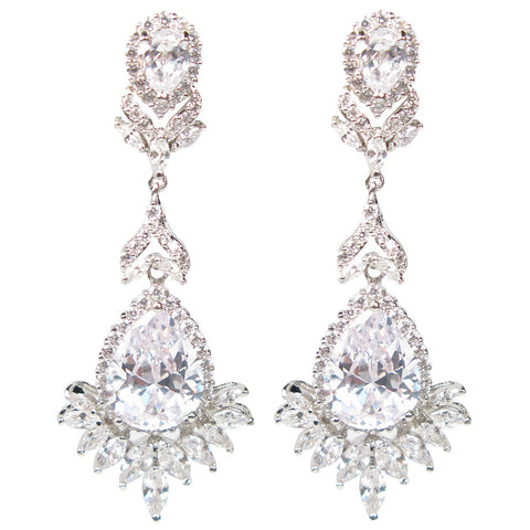 Faceted Celebration Drop Diamontage™ 27.25 Carat Earrings