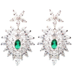 Jeweled Holly Leaf Marquise Diamontage™ 11.625 Carat Earrings