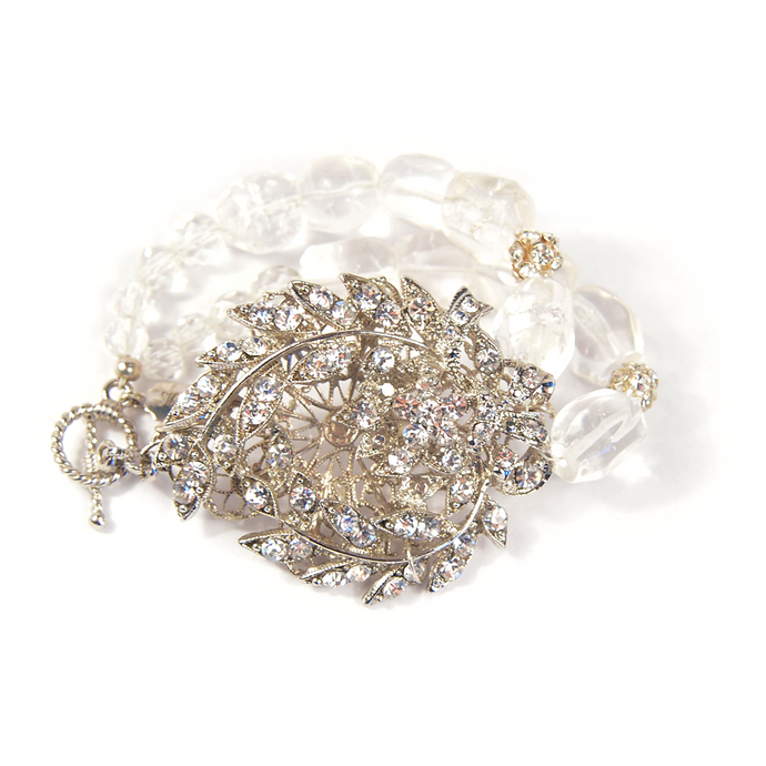 Nouveau Crest One-Of-A-Kind Crystal Bracelet