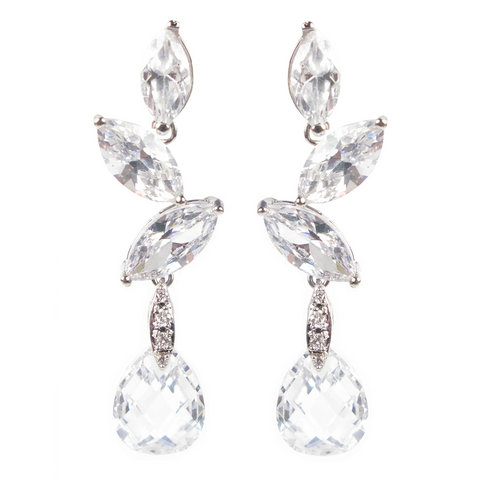 Cascading Marquise Drop Diamontage™ 24.36 Carat Earrings