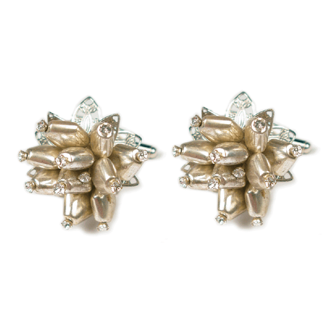 One-Of-A-Kind Chromed Sea Anemone Cufflinks