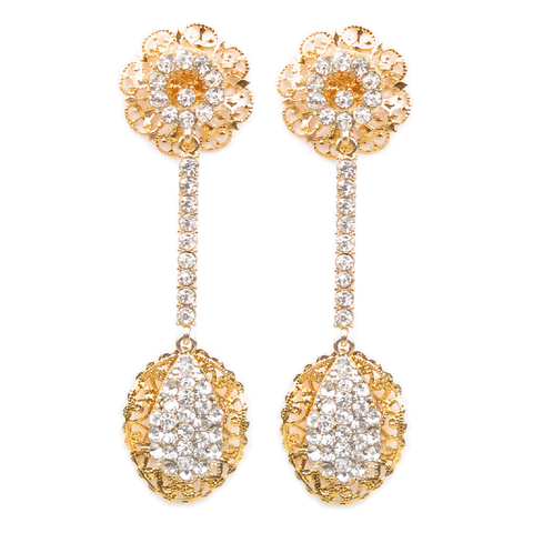Golden Filigree Pendulum Earrings