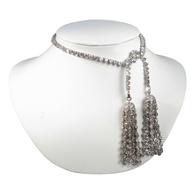 Load image into Gallery viewer, Pure As Passion Diamontage™ 16.64 Carat Tassel Necklace & Back Jewelry