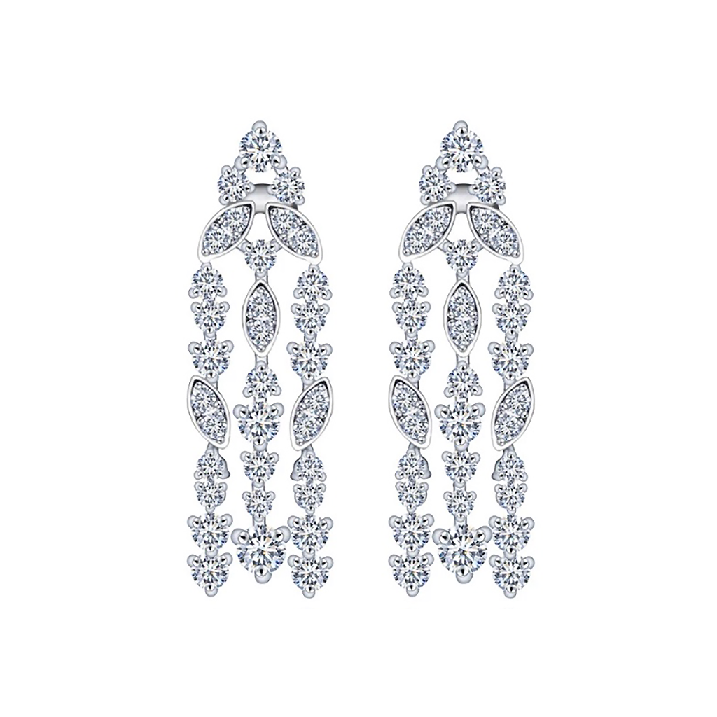 Sparkling Strands Diamontage™ 6.8 Carat Earrings