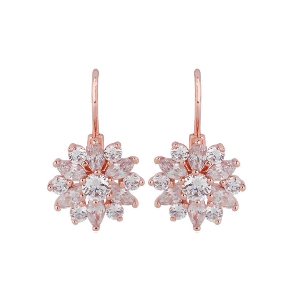 Rose Gold Starburst Diamontage™ 5.8 Carat Earrings
