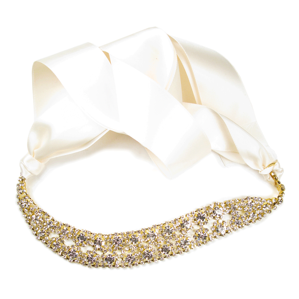 One-Of-A-Kind Encrusted Shimmering Royalty Headpiece & Choker