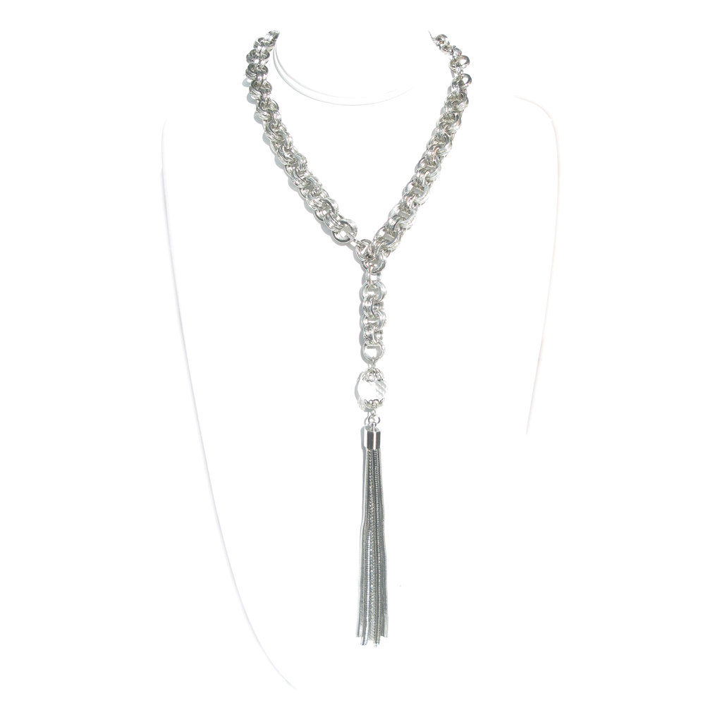 The Silver Tassel Necklace