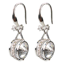Load image into Gallery viewer, Jeweled Bow Tie Rondelle Diamontage™ 4.95 Carat Earrings