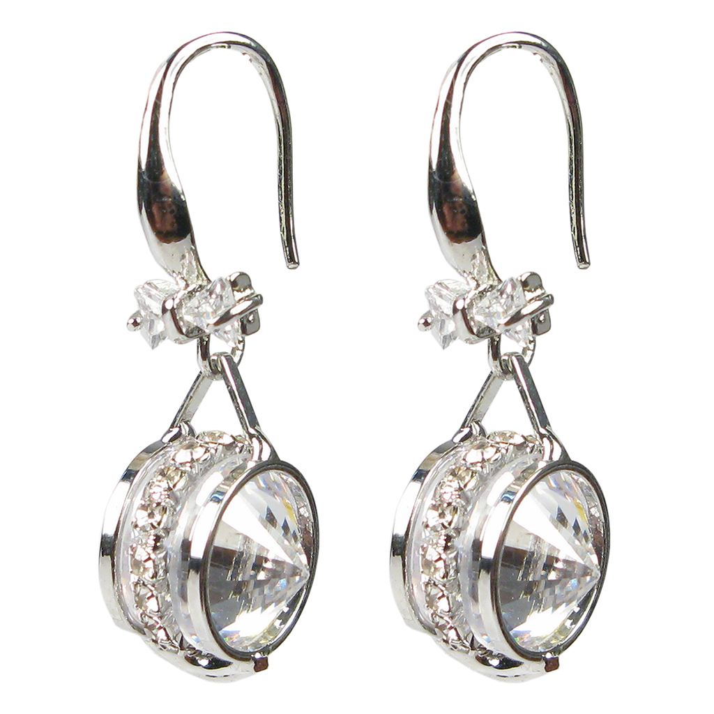 Jeweled Bow Tie Rondelle Diamontage™ 4.95 Carat Earrings