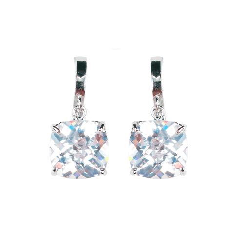 Cushion Cut Deco Diamontage™ 13.68 Carat Earrings