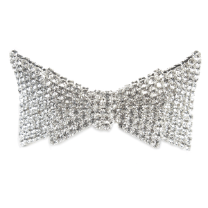 Encrusted Bow Tie Ribbon Barette