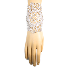Jeweled Nouveau Bouquet Cuff Bracelet