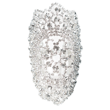Load image into Gallery viewer, Jeweled Nouveau Bouquet Cuff Bracelet