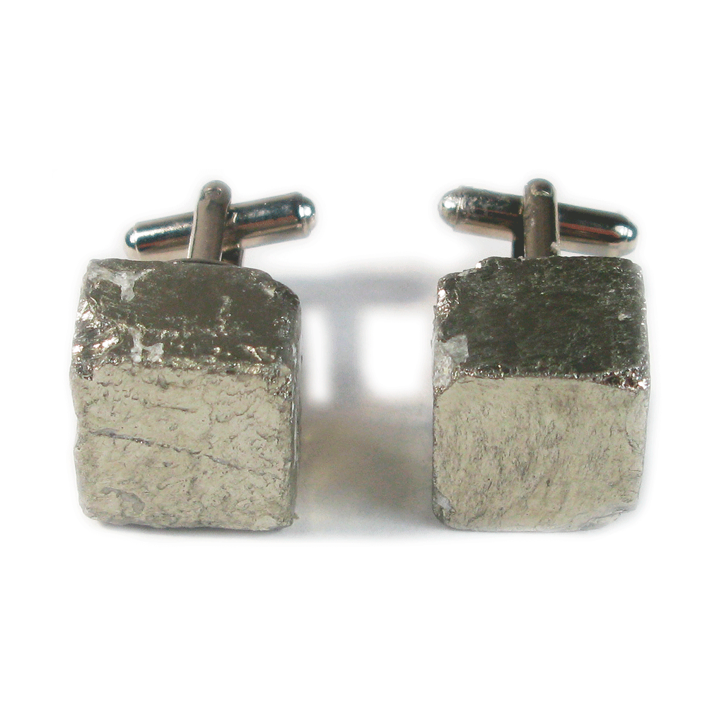 One-Of-A-Kind Raw-Cut Peruvian Pyrite Cufflinks