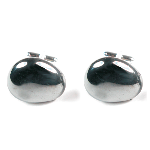 One-Of-A-Kind Polished Hematite Cufflinks