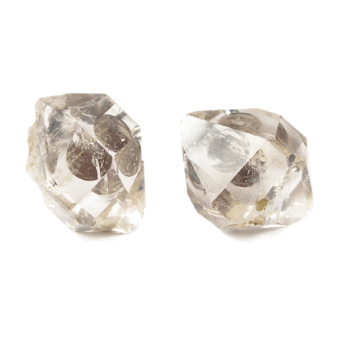 One-Of-A-Kind Raw-Cut Herkimer Diamond Cufflinks