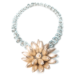 One-Of-A-Kind Sterling Silver Sea Anemone Necklace