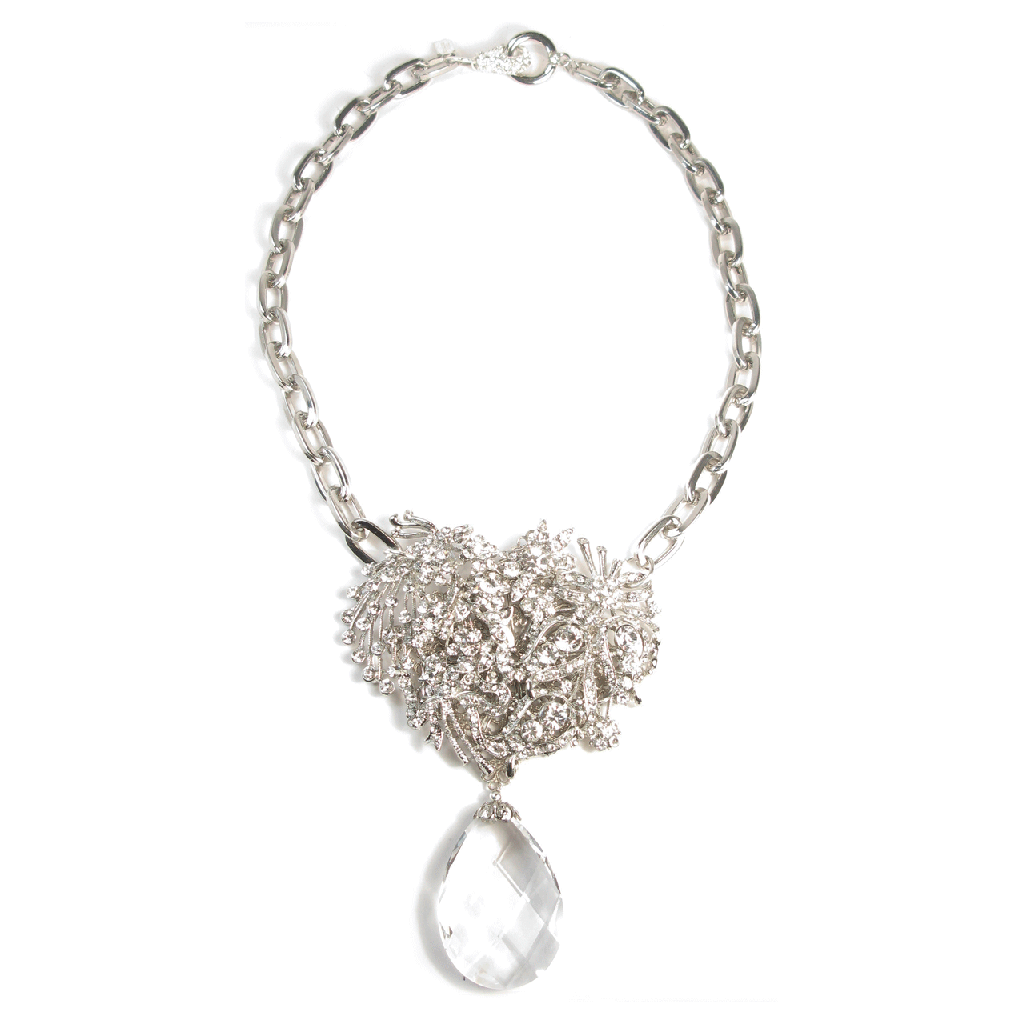 One-Of-A-Kind Bouquet Cluster Drop Necklace