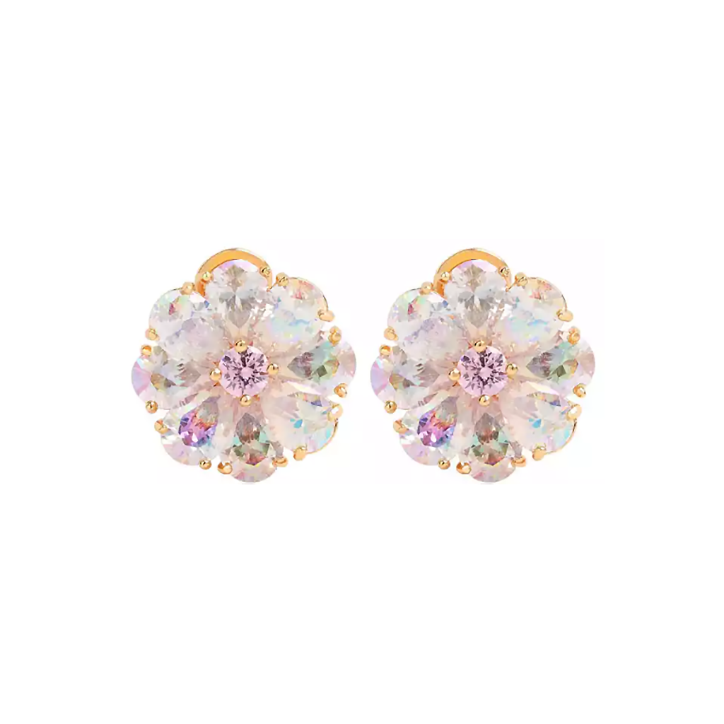 Rose Gold Buttercup Flower Solo Diamontage™ 9.16 Carat Earrings
