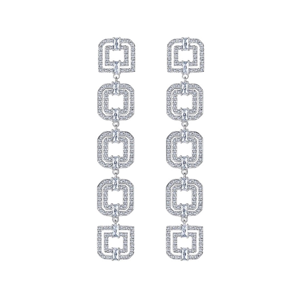 Deco Geometric Diamontage™ 2.8 Carat Earrings
