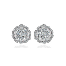 Load image into Gallery viewer, Five Petal Flower Diamontage™ 3.8 Carat Earrings