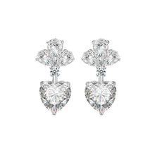 Load image into Gallery viewer, 'Heart On A String' Diamontage™ 3.4 Carat Earrings