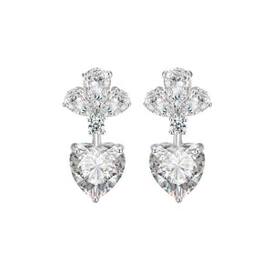 'Heart On A String' Diamontage™ 3.4 Carat Earrings