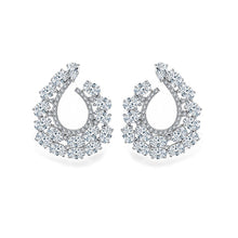 Load image into Gallery viewer, Spiral Of Life Hoop Diamontage™ 6.8 Carat Earrings