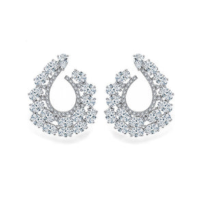 Spiral Of Life Hoop Diamontage™ 6.8 Carat Earrings