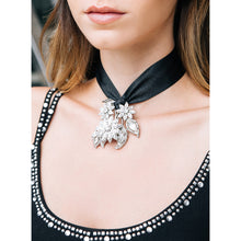 Load image into Gallery viewer, One-Of-A-Kind Floral Fantasy Heirloom Choker Necklace
