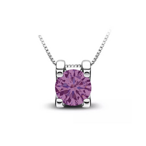 The Gail Honora Solitaire Necklace