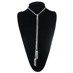 Pure As Passion Diamontage™ 16.64 Carat Tassel Necklace & Back Jewelry