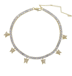 Golden Butterfly Diamontage™ Necklace