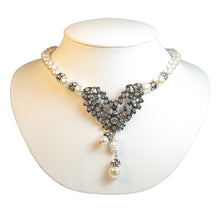 Load image into Gallery viewer, One-Of-A-Kind Noir Pearl Drop Heirloom Necklace