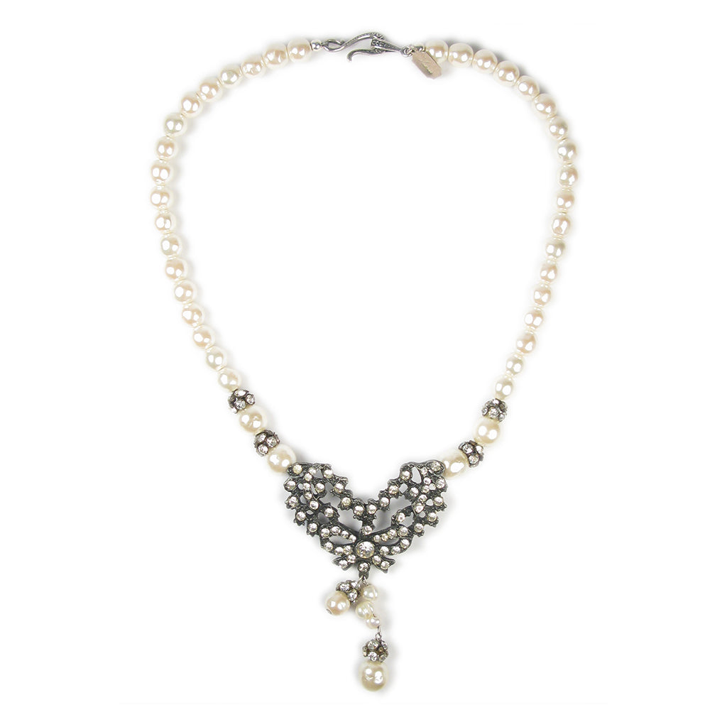 One-Of-A-Kind Noir Pearl Drop Heirloom Necklace