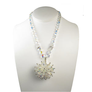 One-Of-A-Kind Crystal Anemone Heirloom Necklace